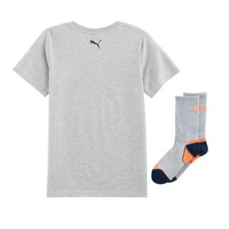 Boys 8-20 PUMA Circle Tee & Socks