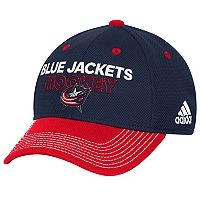 Adult adidas Columbus Blue Jackets Locker Room Flex-Fit Cap