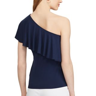 Women's Chaps Ruffled One-Shoulder Top
