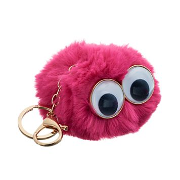 Googly Eyes Pom Pom Key Chain