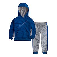 Toddler Boy Nike Therma-FIT Colorblock Pullover Logo Hoodie & Pants Set