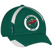Adult adidas Minnesota Wild Practice Jersey Flex-Fit Cap