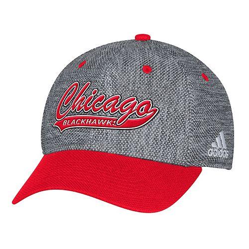 Adult adidas Chicago Blackhawks Structured Flex-Fit Cap
