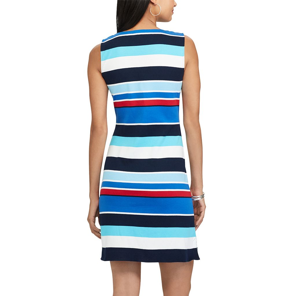 Women's Chaps Striped Lace-Up Dress