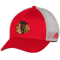 Adult adidas Chicago Blackhawks Mesh-Back Structured Flex-Fit Cap