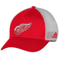 Adult adidas Detroit Red Wings Mesh-Back Structured Flex-Fit Cap