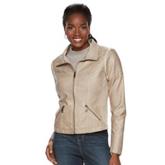 Women's Sebby Collection Faux-Leather Jacket