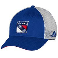 Adult adidas New York Rangers Mesh-Back Structured Flex-Fit Cap