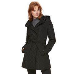 Women's Sebby Collection Quilted Trench Coat