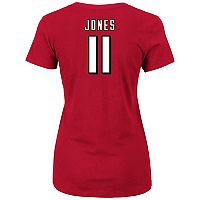Plus Size Majestic Atlanta Falcons Julio Jones Name and Number Tee
