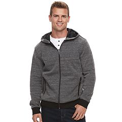 Men's Apt. 9 Marled Hooded Bomber Jacket