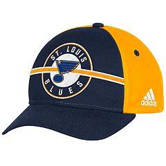 Adult adidas St. Louis Blues Structured Adjustable Cap