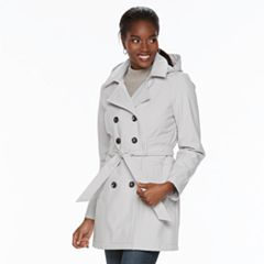 Women's Sebby Collection Soft Shell Trench Coat