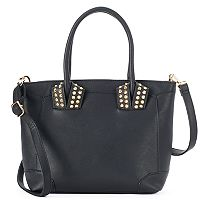 Kiss Me Couture Studded Convertible Satchel
