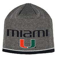 Adult adidas Miami Hurricanes Player Beanie