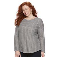 Plus Size Croft & Barrow® Lurex Sweater