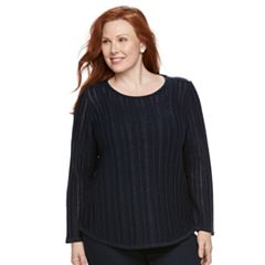 Plus Size Croft & Barrow® Lurex Sweater