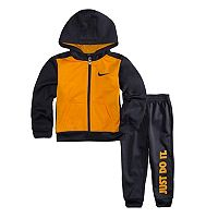 Toddler Boy Nike 2-pc. Zip Colorblock Hoodie & Pants Set