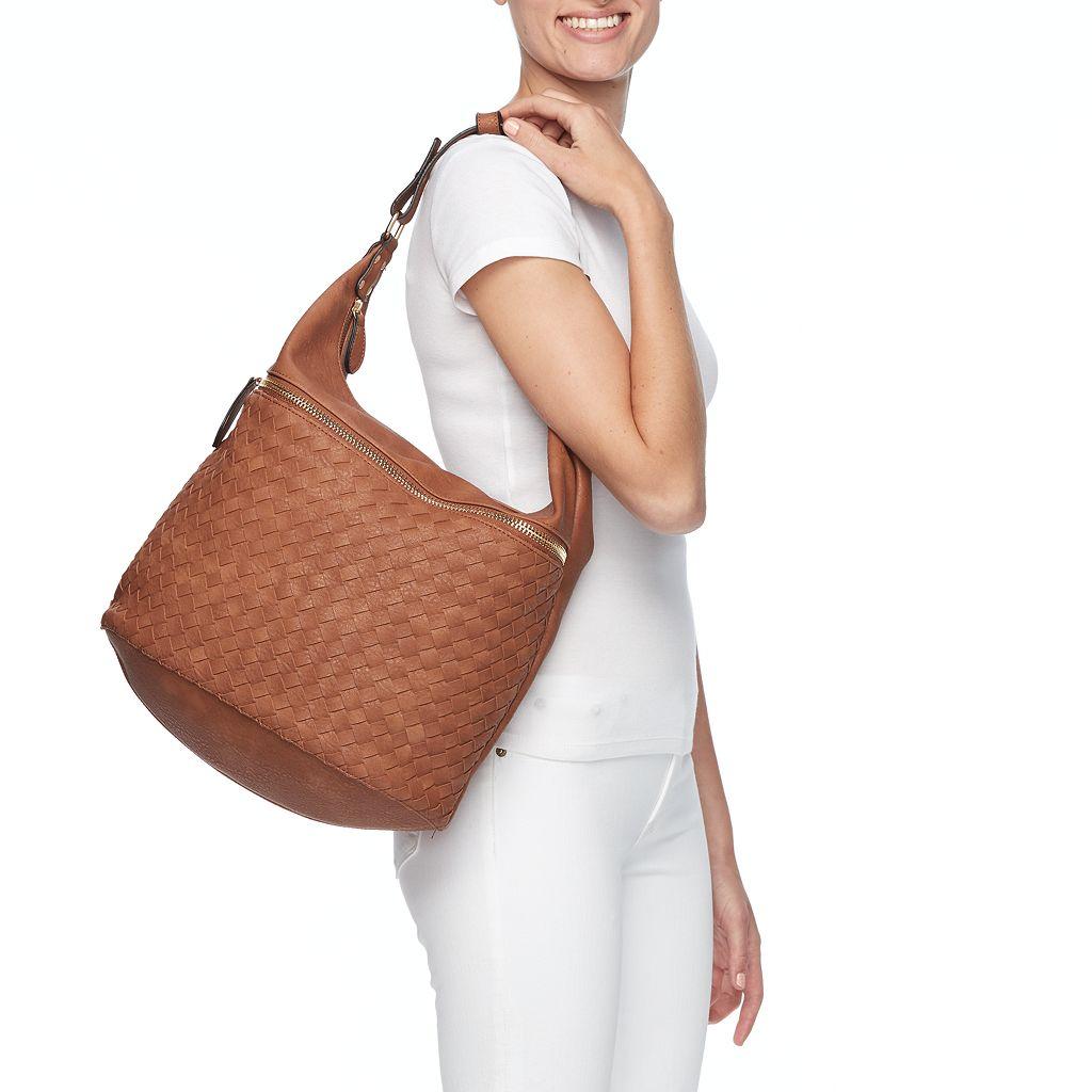 Yoki Basket Weave Shoulder Bag