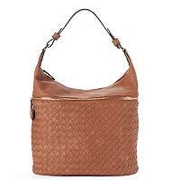 Yoki Basket Weave Shoulder Bag