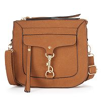 Kiss Me Couture Dog Lock Flap Crossbody Bag