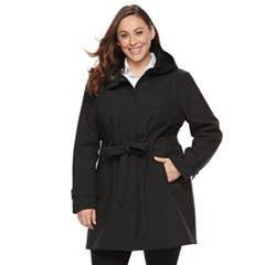 Plus Size Sebby Collection Soft Shell Jacket