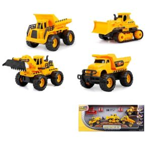 New Bright 10-pc. Free Wheel Construction Truck Set