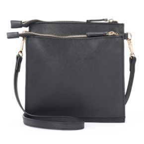 Kiss Me Couture Double Entry Crossbody Bag