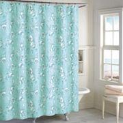 Destinations Seashell Toile Shower Curtain