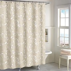 Destinations Seashell Toile Shower Curtain