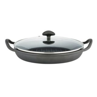 Sabatier Pre-Seasoned Cast-Iron Rust-Resistant Round Grill Pan
