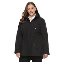 Plus Size Sebby Collection Soft Shell Anorak