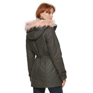 Women's Sebby Collection Faux-Fur Trim Parka