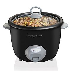 Hamilton Beach 20-Cup Glass Lid Rice Cooker