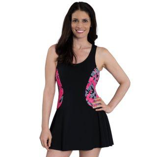 Women's Dolfin Aquashape Tummy Slimmer Colorblock Swimdress