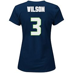 Plus Size Majestic Seattle Seahawks Russell Wilson Name and Number Tee
