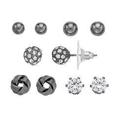 Cubic Zirconia Stud Earring Set