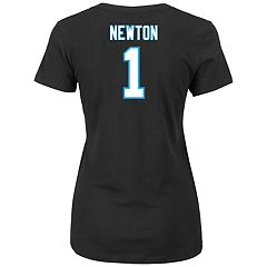 Plus Size Majestic Carolina Panthers Cam Newton Name and Number Tee