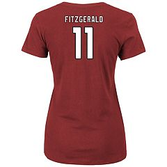 Plus Size Majestic Arizona Cardinals Larry Fitzgerald Name and Number Tee