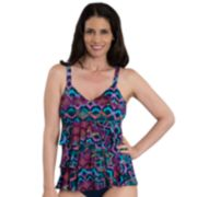 Women's Dolfin Aquashape Tummy Slimmer Tiered One-Piece Swimsuit