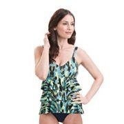 Women's Dolfin Aquashape Tummy Slimmer Tiered One-Piece Swimsuit