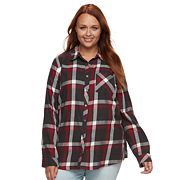 Plus Size SONOMA Goods for Life™ Essential Plaid Flannel Shirt