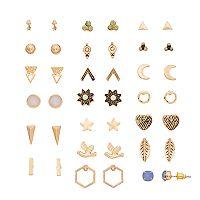 Star, Heart, Bird & Feather Stud Earring Set