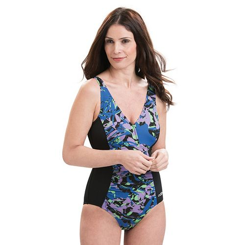 3a430246b5020 Women's Dolfin Aquashape Tummy Slimmer One-Piece Swimsuit