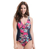 Women's Dolfin Aquashape Tummy Slimmer One-Piece Swimsuit