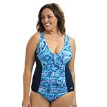 Women's Dolfin Aquashape Athletic V-Neck One-Piece Swimsuit