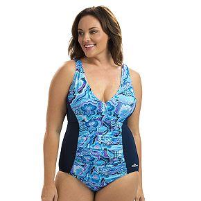 Women's Dolfin Aquashape Athletic V-Neck One-Piece Swimsuit