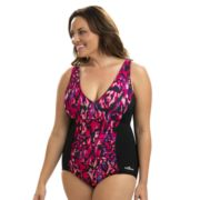 Plus Size Dolfin Aquashape Tummy Slimmer One-Piece Swimsuit