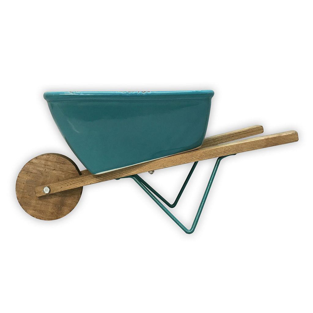 Celebrate Spring Together Indoor / Outdoor Decorative Wheel Barrow Planter