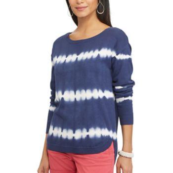 Women's Chaps Tie-Dye Scoopneck Sweater